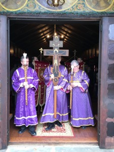 Children's procession with icons, March 2016